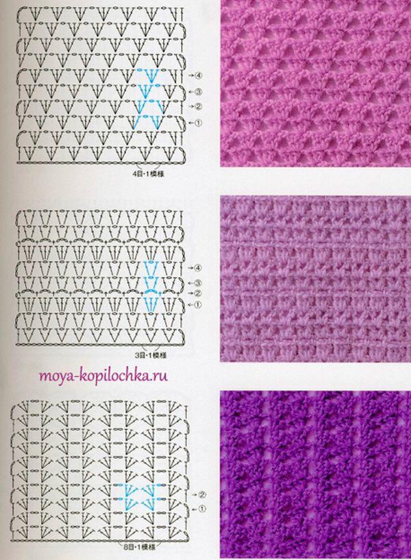 Colección de patrones y motivos, los de punto | Tejido | Pinterest ...