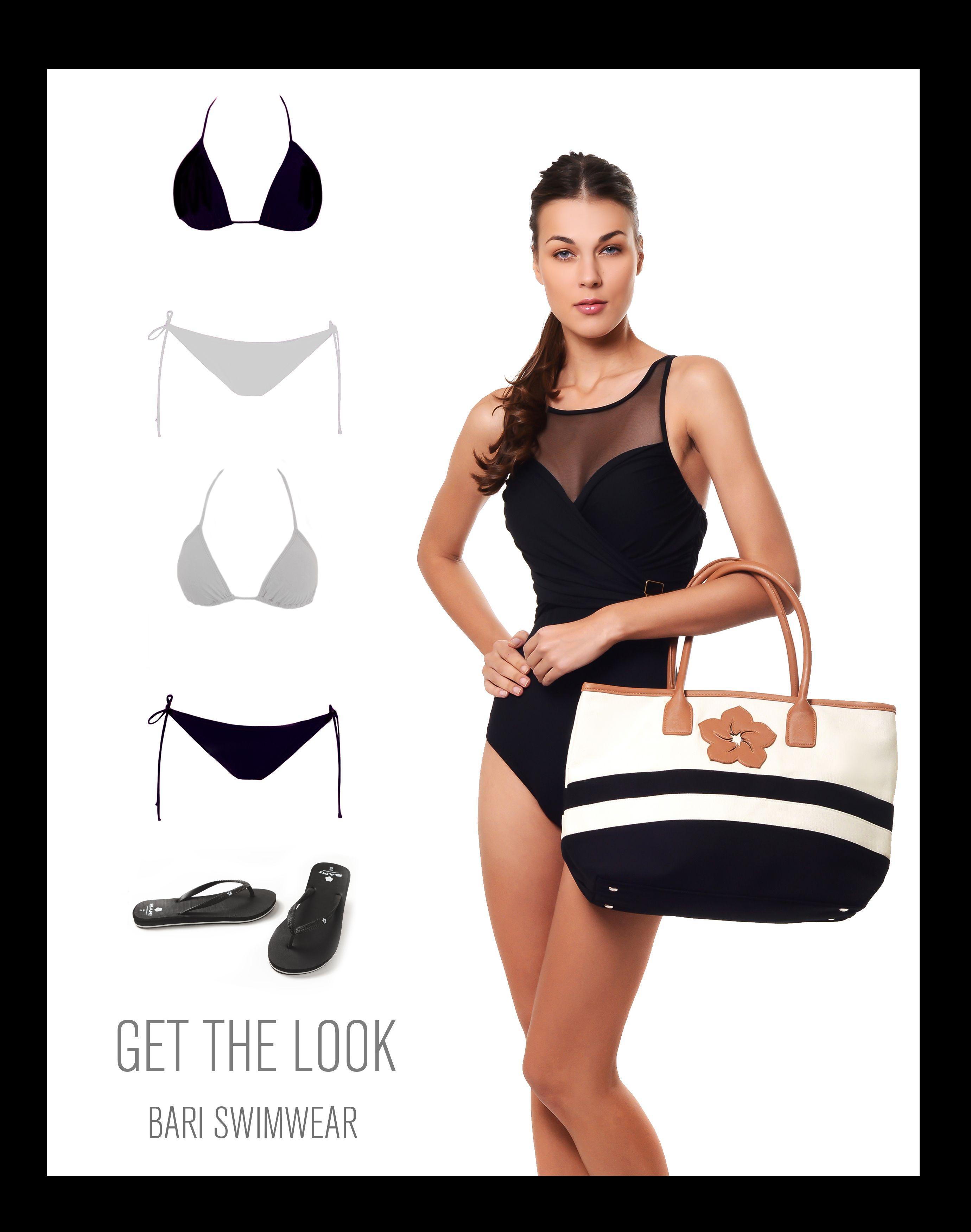 b9a60730b Complementa estos trajes de baño de Bari Swimwear con una sofisticada bolsa  para este invierno  look  swimwear