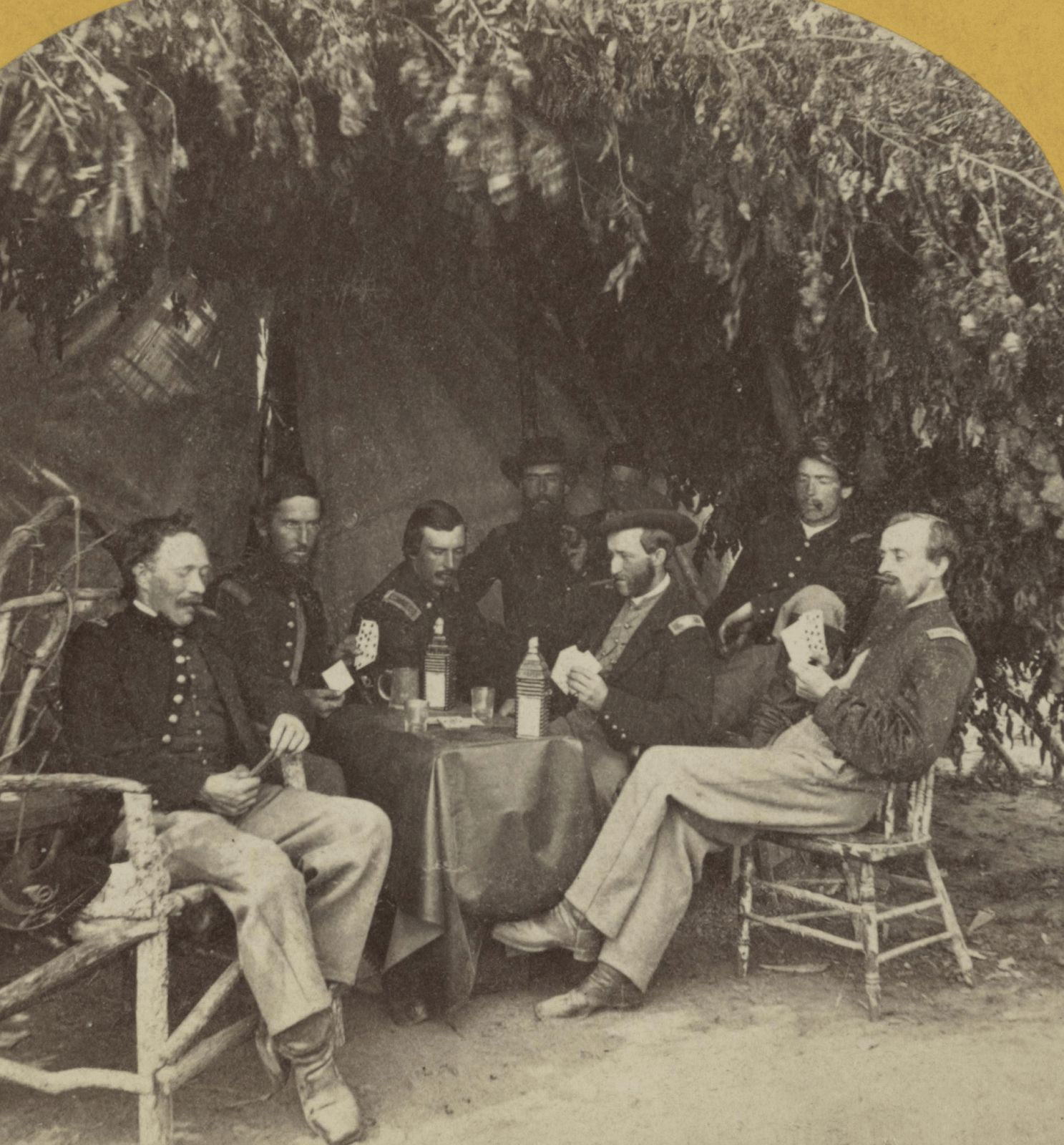 Union soldiers of the 13th illinois volunteer infantry regiment union soldiers of the illinois volunteer infantry regiment playing cards columbus kentucky chubachus library of photographic history fandeluxe Choice Image