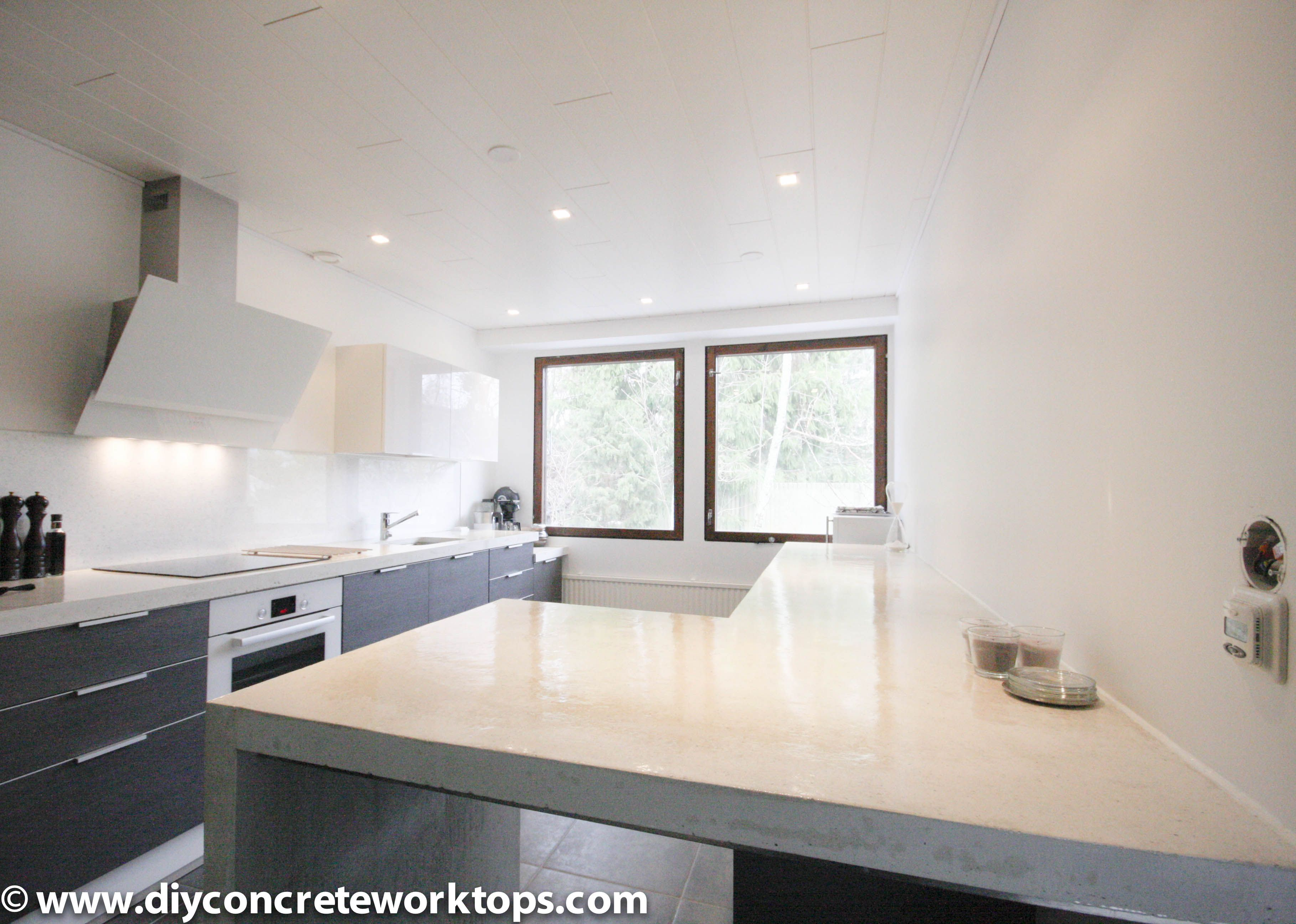 Best White Concrete Countertop The Worktop Has Been Made With 400 x 300
