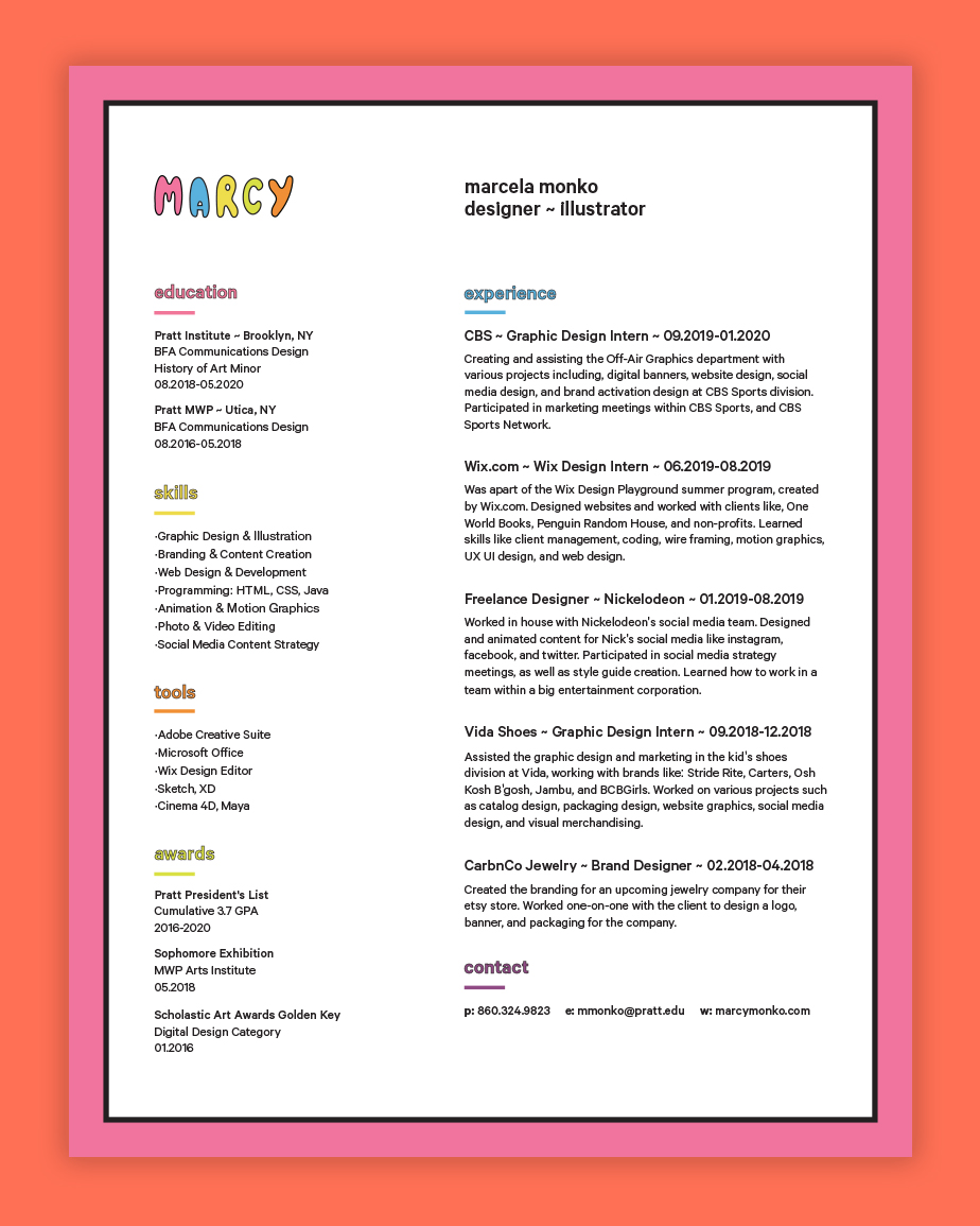 Graphic Design Resume Examples and Tips for Creating Your