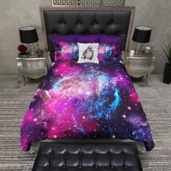 In Stock Lightweight Twin Galaxy Duvet Cover And By