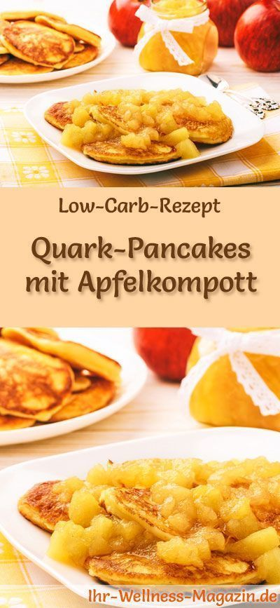 low carb quark pancakes mit apfelkompott fr hst ck low carb ausprobieren pinterest. Black Bedroom Furniture Sets. Home Design Ideas