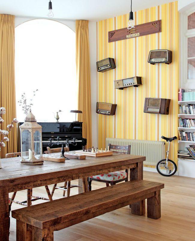 Apartamento de estilo vintage ecl ctico decoraci n hogar - Comedores estilo vintage ...