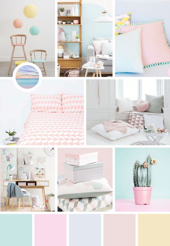 Pastel shades are relaxing colors, exactly what you need when you ...