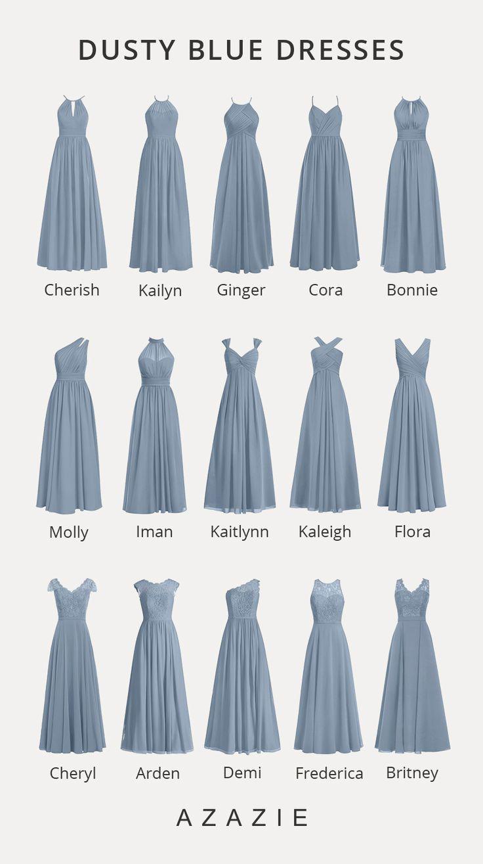 dusty blue bridesmaid dresses - sourceczaaarnax -, #blue