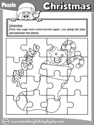 christmas puzzle b w version christmas colouring pages pinterest christmas puzzle and christmas time