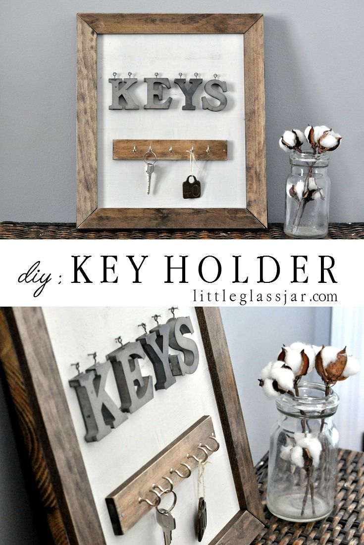 Key Holder | Key diy, Diy home decor, Decor