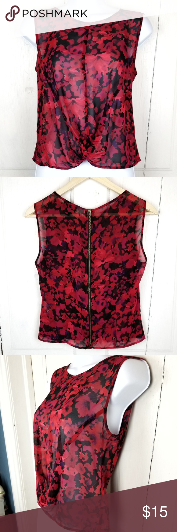 944d4b6f8335ee Topshop Sleeveless Blouse Sheer