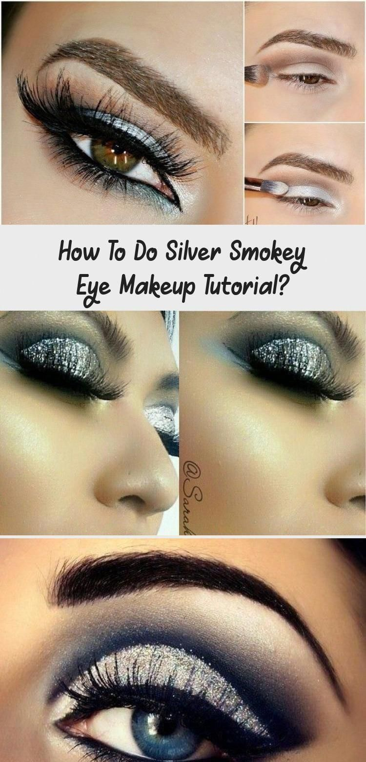 Photo of Perfectly shapes eyebrows, silver smoky eyes with cat eyeliner makeup inspirati …