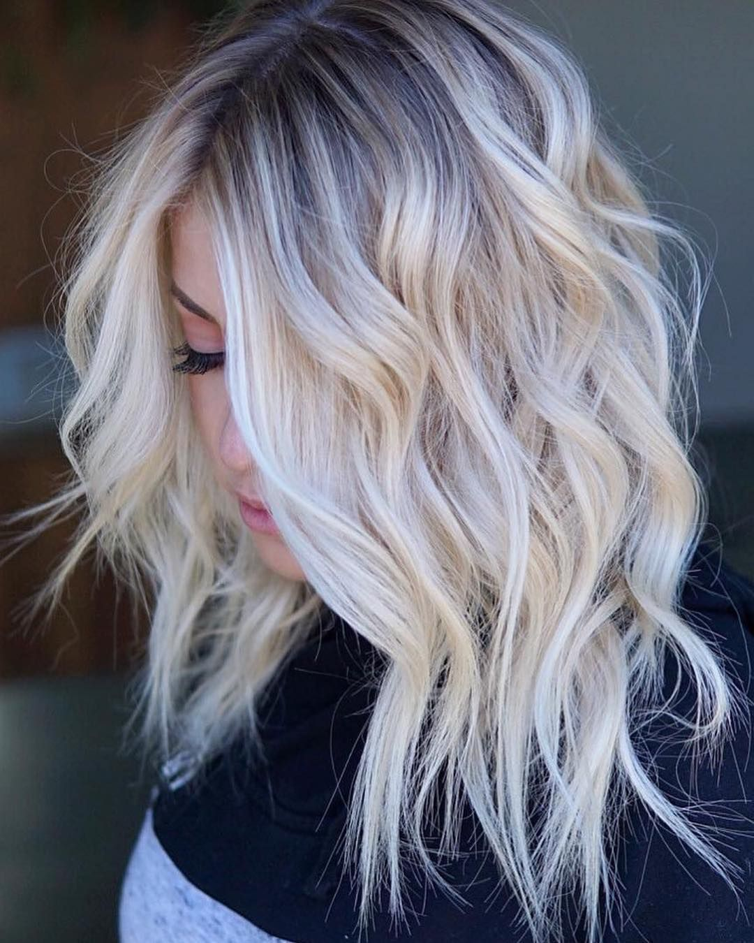 Platinum Blonde Balayage Hair Color Idea: Pin By Rhonda Roy On Hair Color