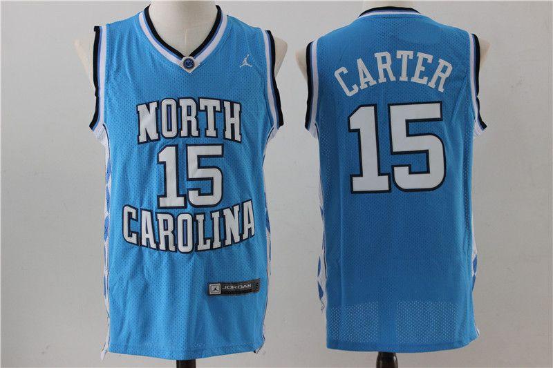 fcce7f0e4 North Carolina Tar Heels  15 Vince Carter 2017 Light Blue Jersey ...