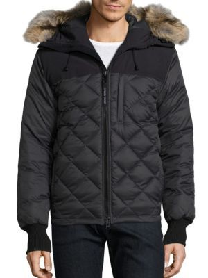 28d3aa3bd323 CANADA GOOSE Pritchard Diamond Quilted Coat.  canadagoose  cloth  coat