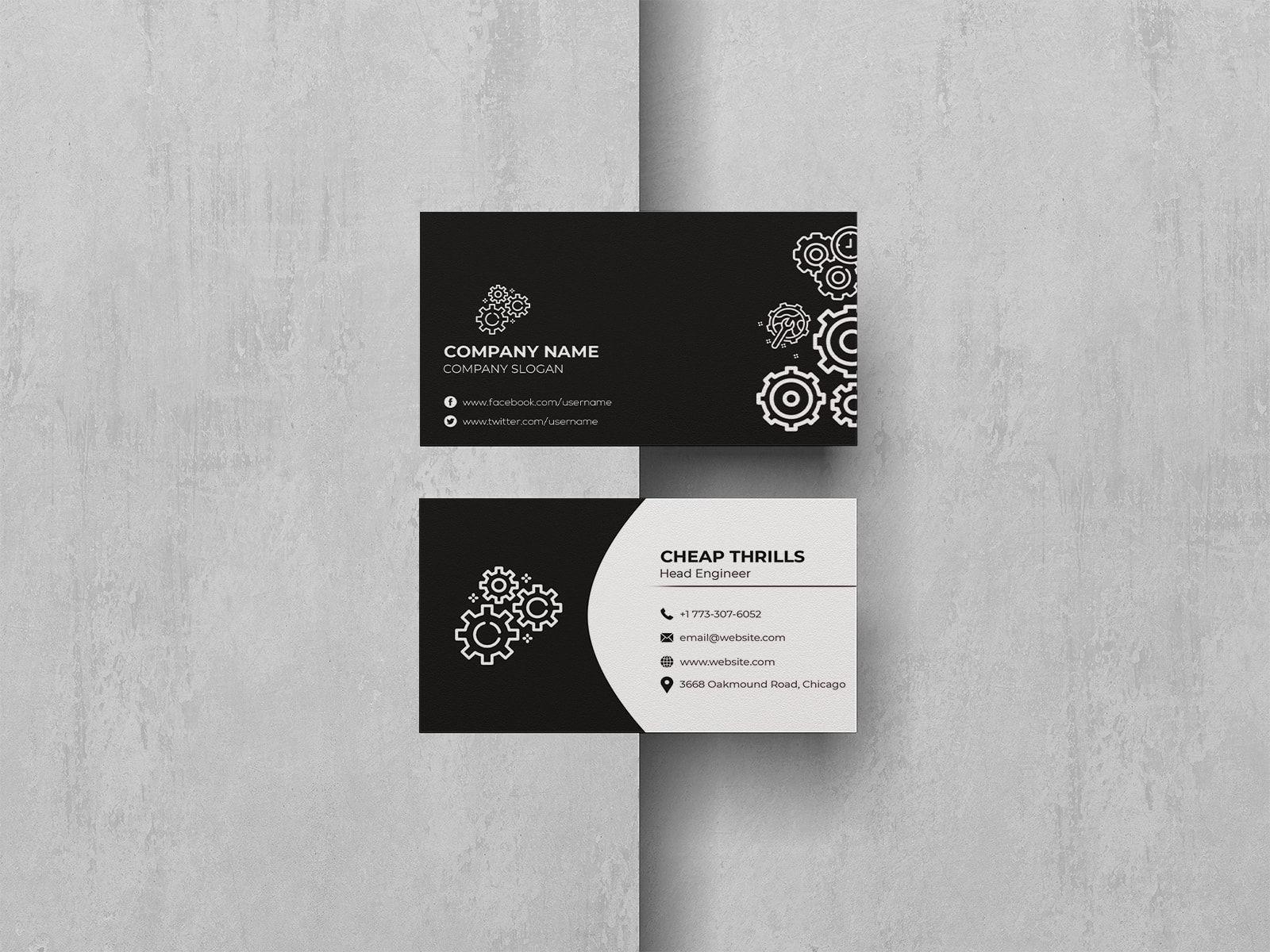 Elite Mechanical Engineer Business Card Business Cards Creative Business Cards Business Cards Collection