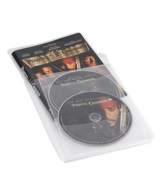 Protects Discs Against Scratches and Dust Atlantic 25 Pack Movie Sleeves Clear Sleeve hold two discs each