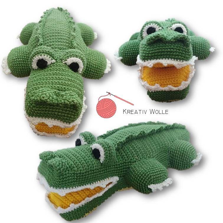 Amigurumi Krokodil Crocheted By Kreativ Wolle Krokodil Hakeln Krokodil Nahen Tiere Hakeln