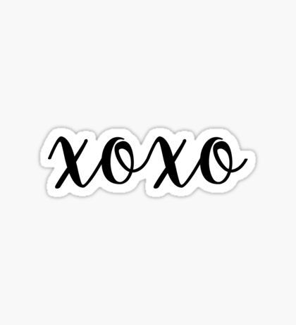 Pegatina xoxo · stickersstickerdecals