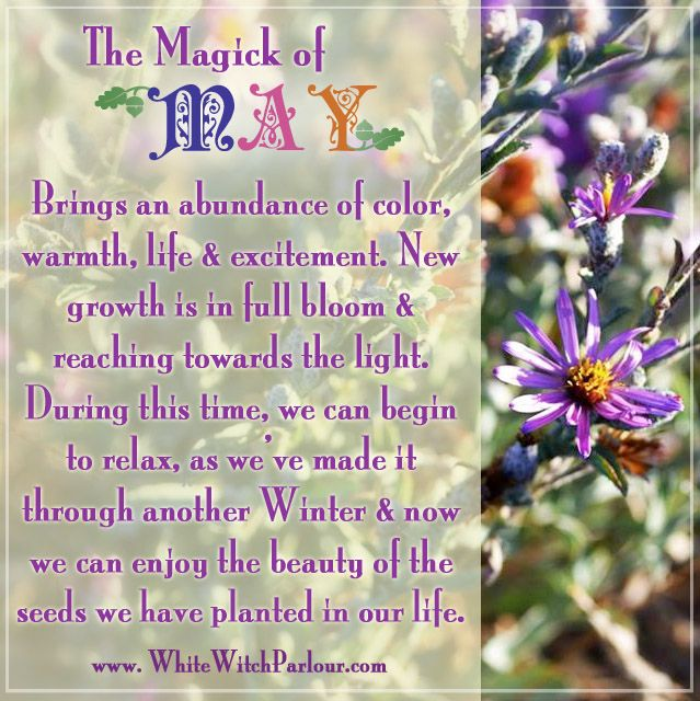 May Hello May Magick Meaning Symbolism Mystic Psychic White