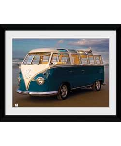 4d4f3bddf498ed Buy GB Eye Volkswagen Blue Kombi Framed Print at Argos.co.uk