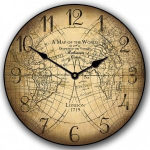 buy your cruso vintage world map kids wall clock here the cruso vintage world map kids clock is the perfect clock for your childs bedroom or nursery