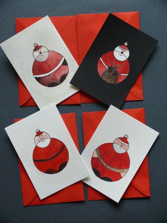 ▷ 1001 + tutos et modèles de carte de Noël à fabriquer