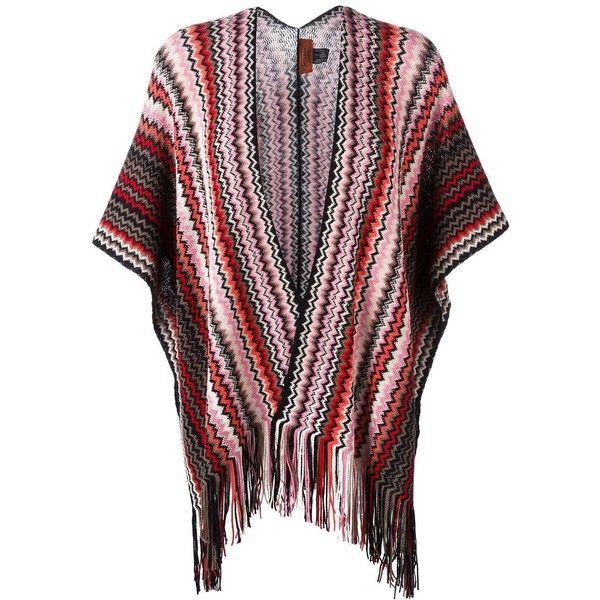 Missoni zig-zag fringed knit poncho (£180) ❤ liked on Polyvore ...