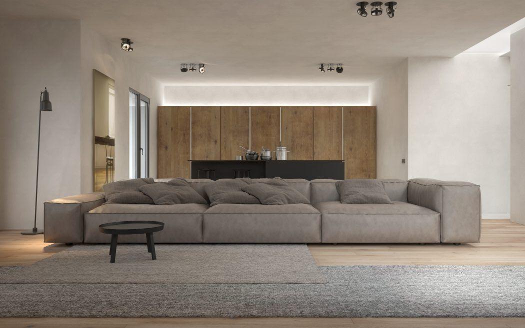 Three Room Apartment by KDVA Architects Diseño interior y - diseo de interiores de departamentos
