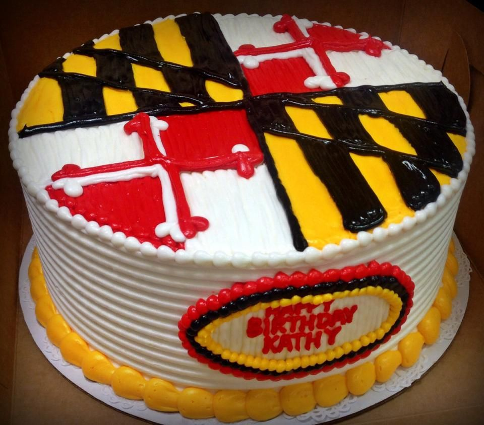 Maryland Flag Cake Main and Market Cakes Pinterest Flag cake