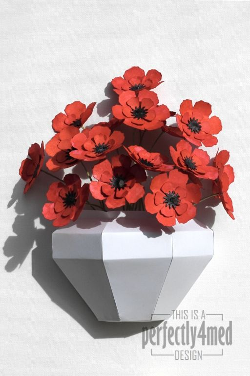 Papercraft flowers vase crafty stuff pinterest paper vase papercraft flowers vase flower diy flower crafts diy flowers flower pots mightylinksfo