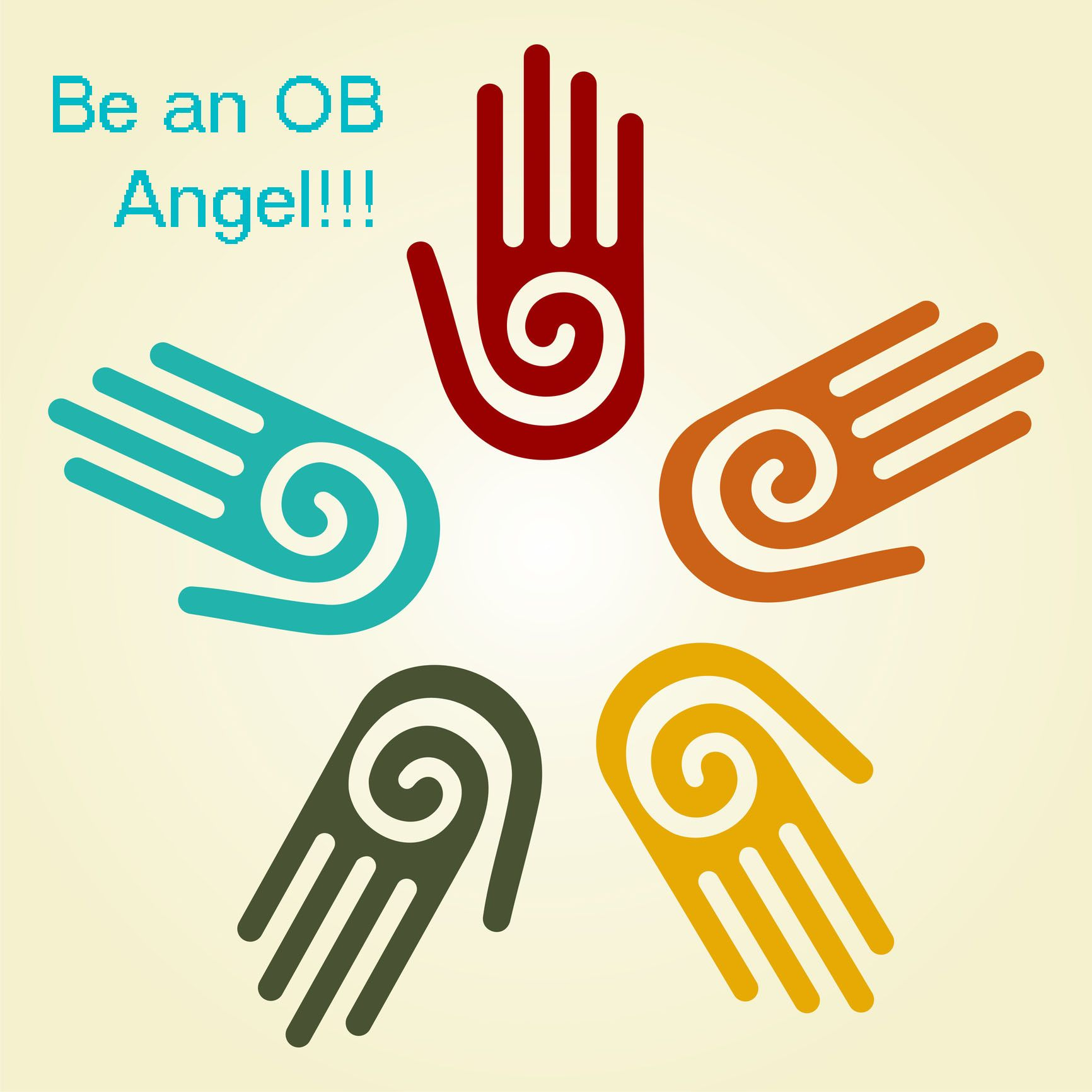 Ortho bionomy a new gentle massage modality all about body works silhouette hands hand with a spiral symbol on the palm on a circle of hands background vector available buycottarizona Image collections