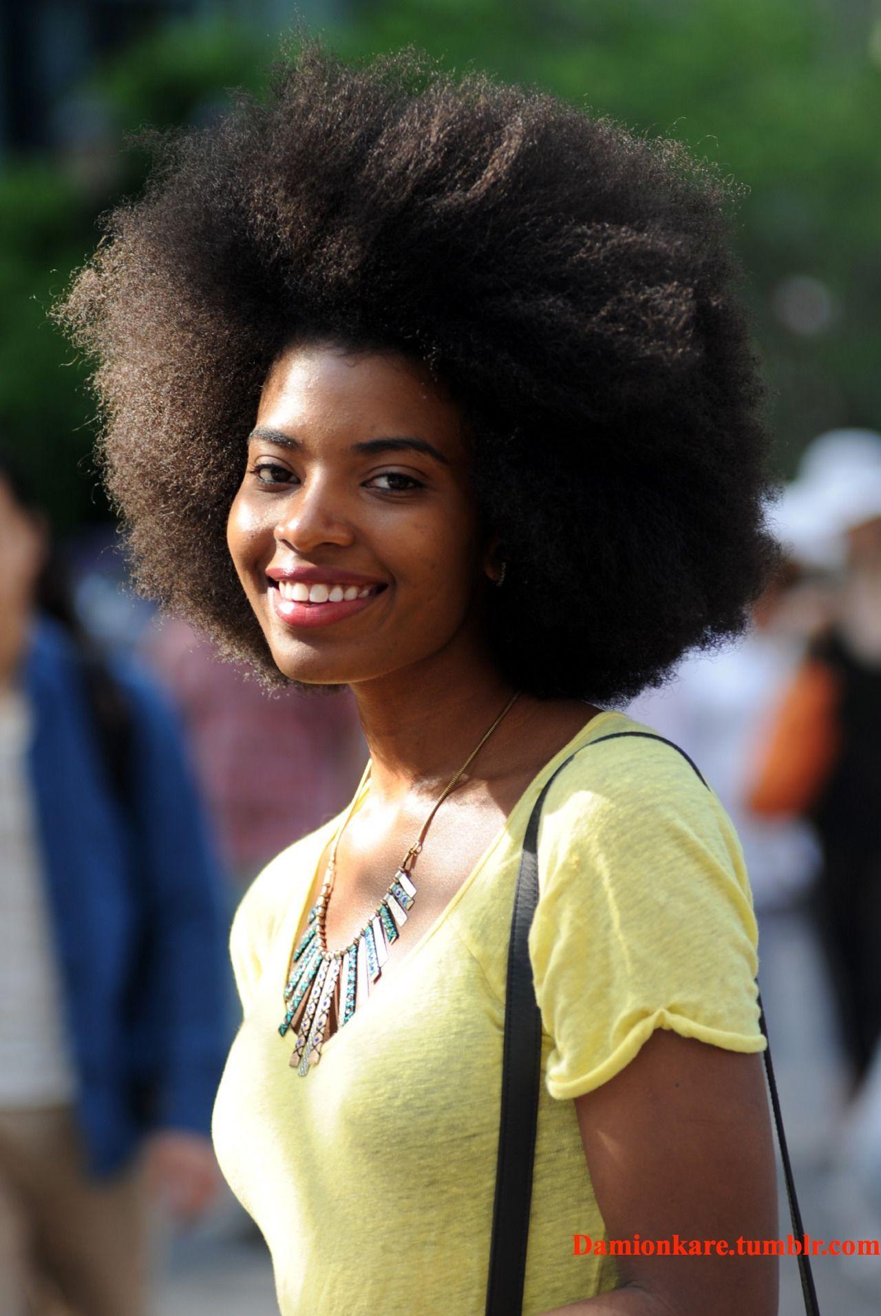 Photographer: Damion Reid    Instagram: BOTBW2013    beautiful black woman. thick hair. kinky hair. afro hair. big afro. natural hair. dark skin beauty. dark beauty.
