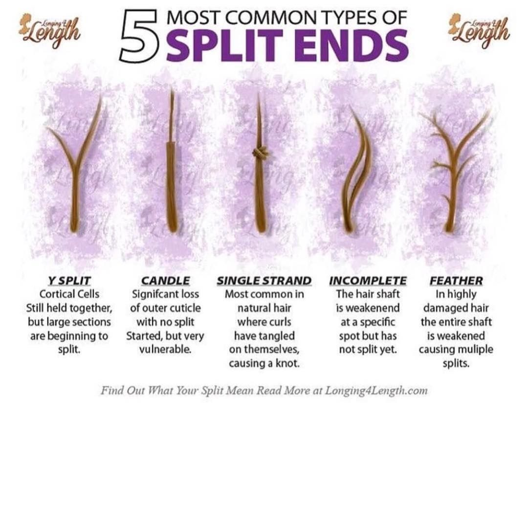 Types Of Split Ends Black Girl Natural Hair Long Hair Tips Natural Hair Styles
