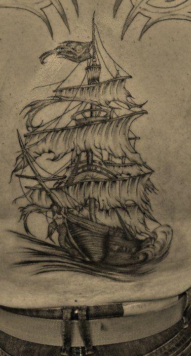 Tatouage Bateau Pirate Ship Tattoo Tattoos Sailing Ships