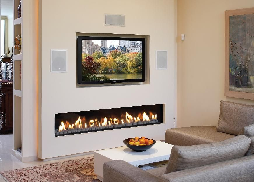 Ortal is the only gas fireplace manufacturer with Cold Wall Technology that allows the installation of TV… | Pinteres…