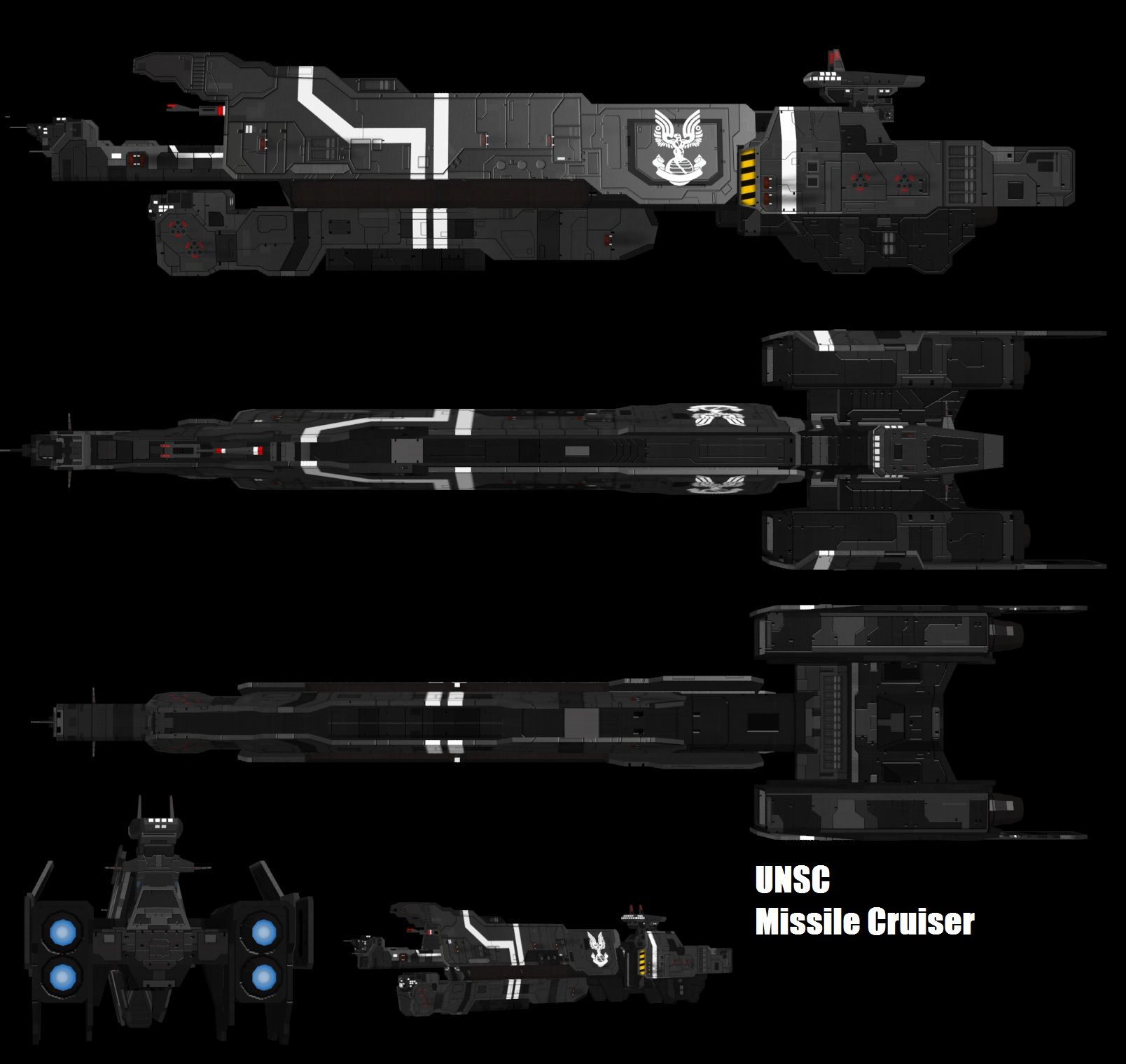 HALO UNSC Missile Cruiser by adimatters on deviantART