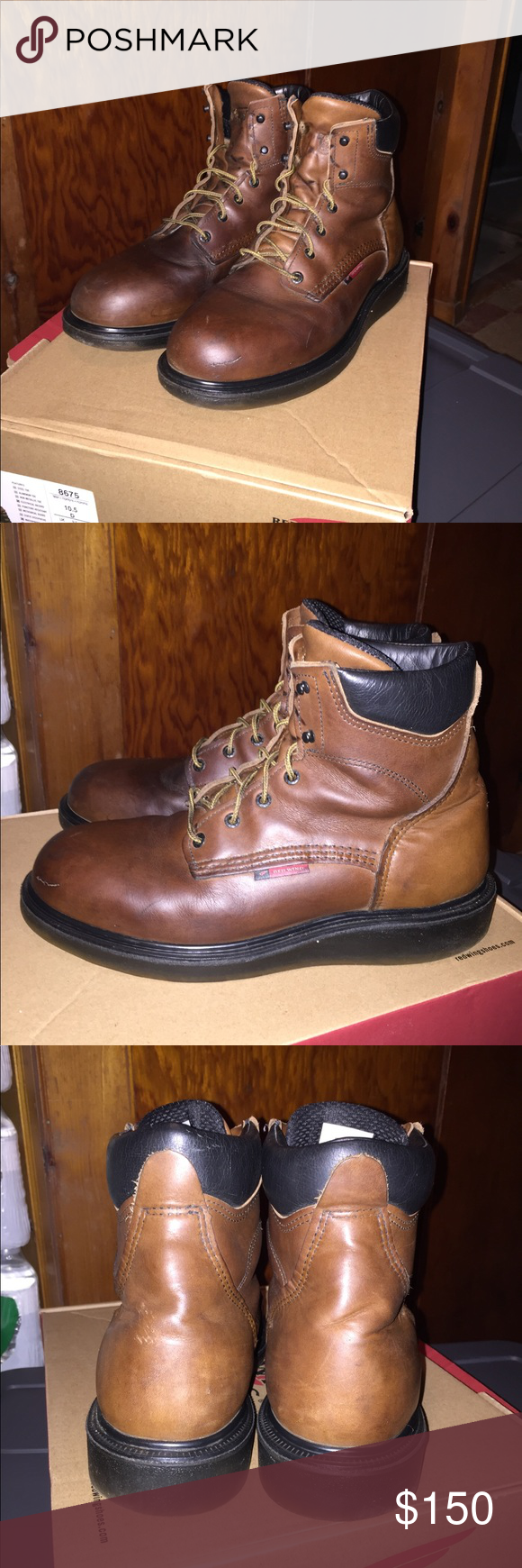 Red Wing Boots 676 Red Wing Work Boots Model 676 Size 10 5 D Width Worn Maybe 10 Times But In Great Condition Red Wing Boots Red Wing Shoes Dress Shoes Men