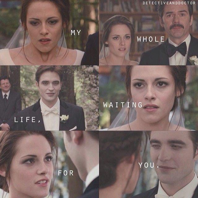 Edward and Bella - wedding day @detectiveanddoctor