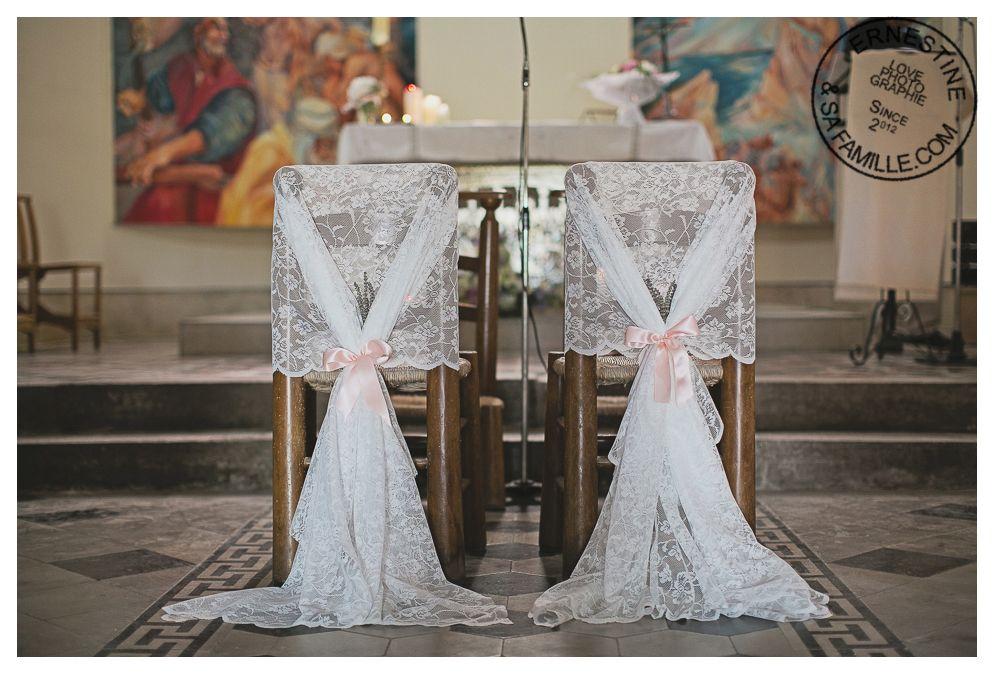 Detail Decoration Eglise Decoration Chaises Des Maries Dentelle Et Rubans Mariage Retro Decoration Eglise Mariage Mariage