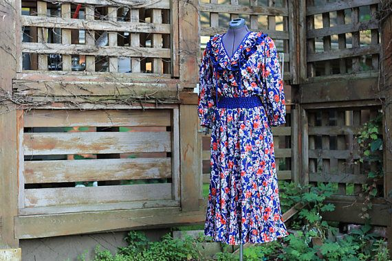 Boho Chic Diane Freis 1980's Gypsy Dress