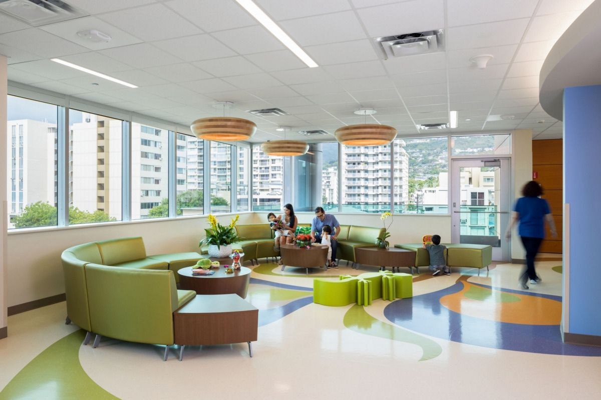 Kapiolani Medical Center For Women And Children Diamond Head Tower Achella Modular Healthcaredesign Work Public Seating Seating Wooden Dining Room Chairs