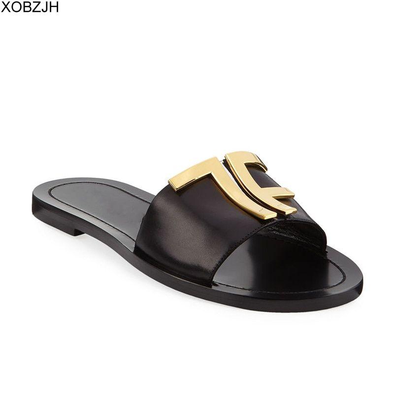designer slides G flip flops mule Shoes
