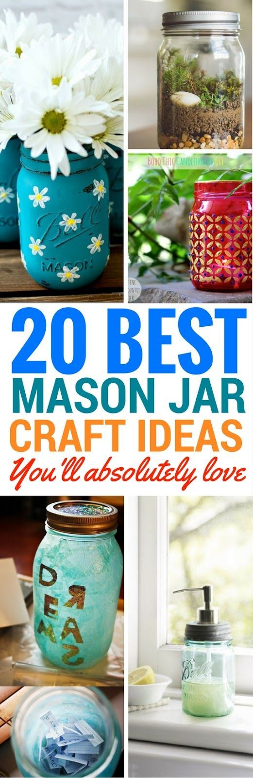 20 Amazing DIY Mason Jar Projects
