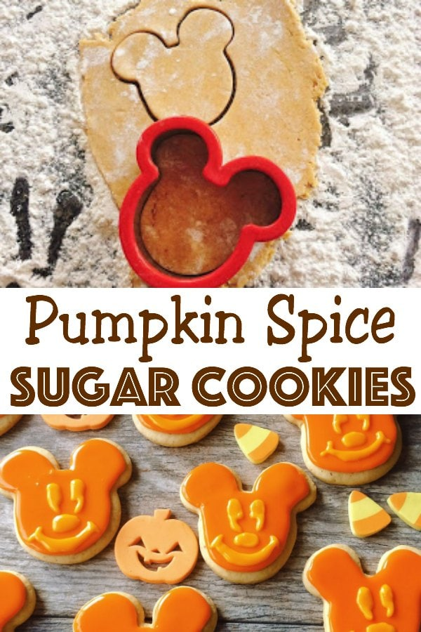 Pumpkin Spice Sugar Cookies - The Mommy Mouse Clubhouse #sugarcookies