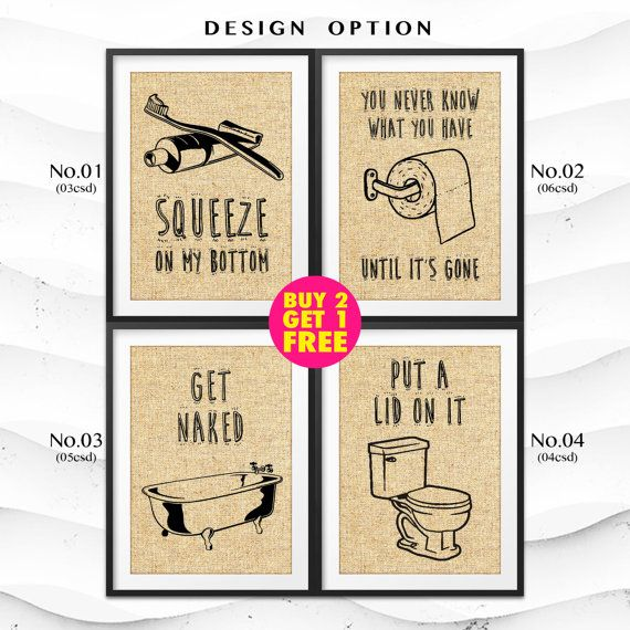 Burlap Print | Funny Bathroom Art | Burlap Decor | Bathroom Sign ...