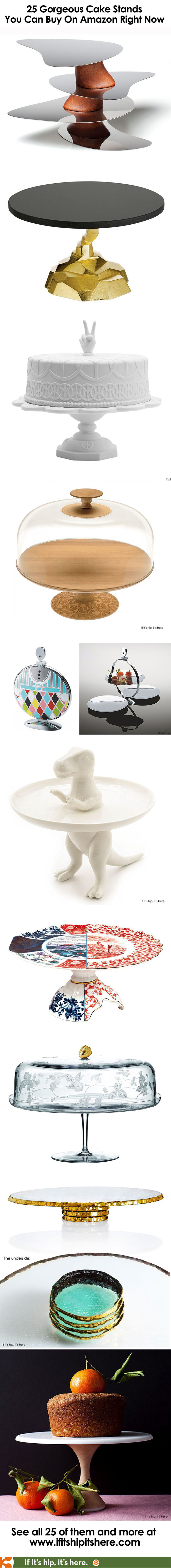 Baking friends! We've found the 25 most amazing cake stands / cake plates available on Amazon right now. From Alessi to Studio Job, Portmeirion to Nambé, Seletti to Waterford. These also make wonderful housewarming, hostess and holiday gifts.
