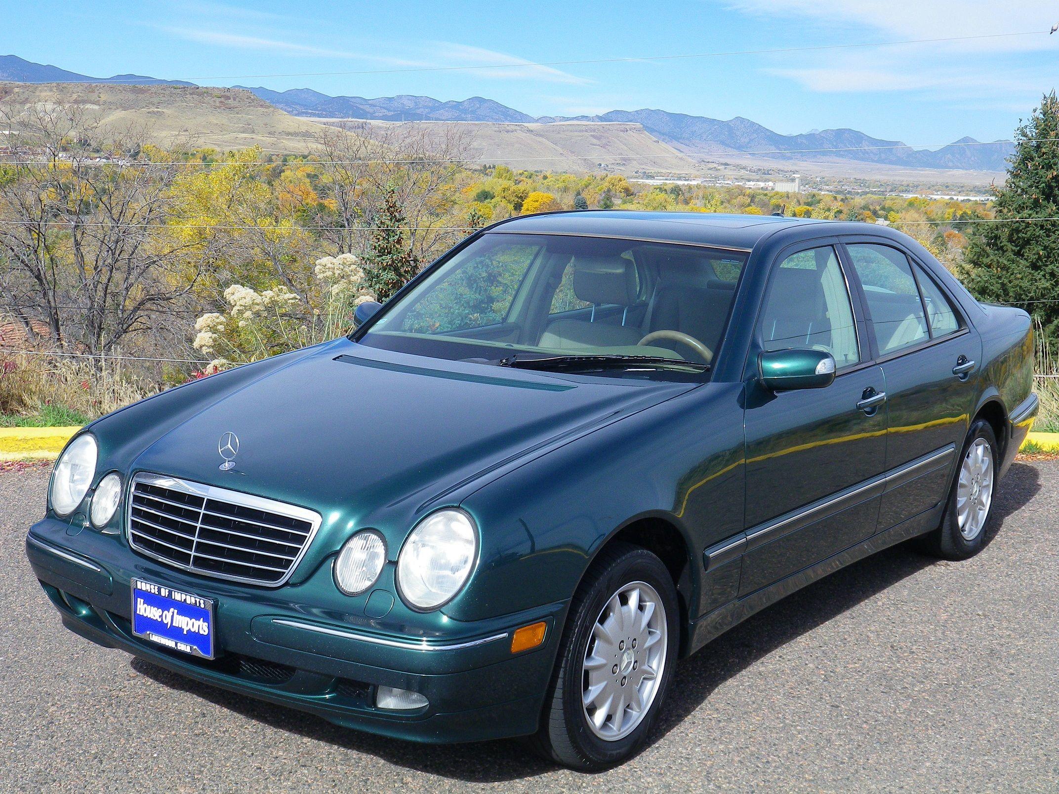 2001 Mercedes Benz E320 4-Matic 135930 miles WDBJF82J31X053113 Stock #:  C465A Aspen Green Metallic Interior: Java