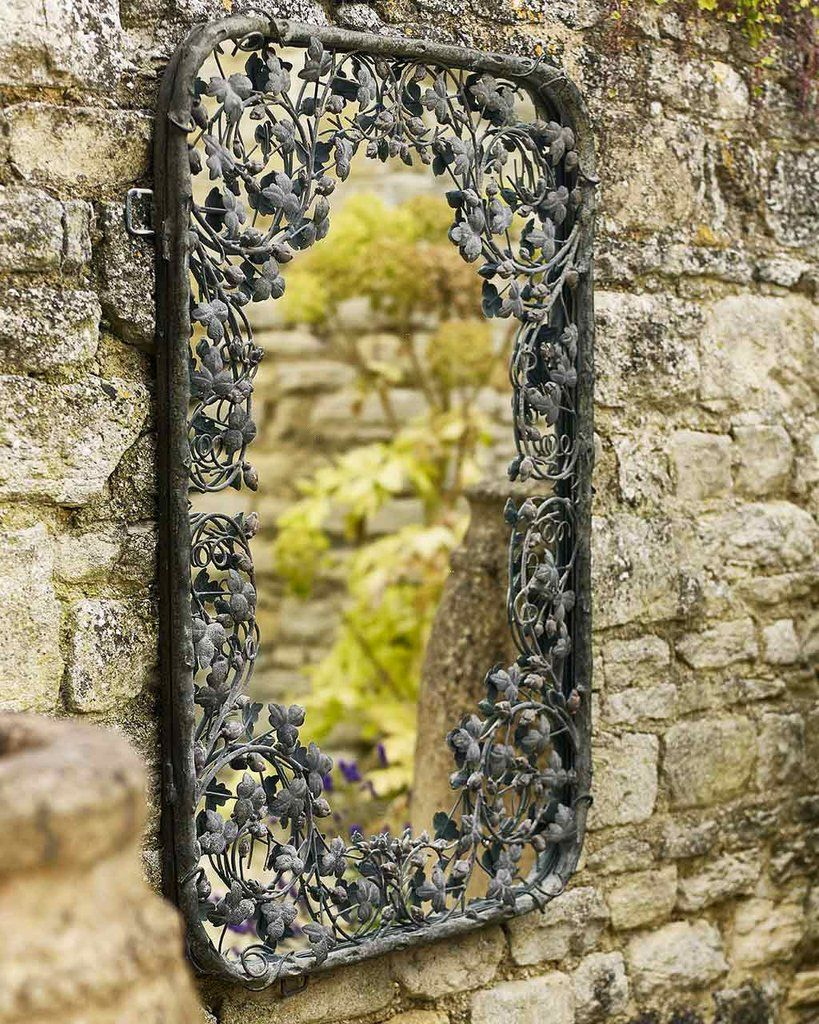 Thousand Leaves - Large Metal Frame Filigree Mirror | MirrorDeco ...