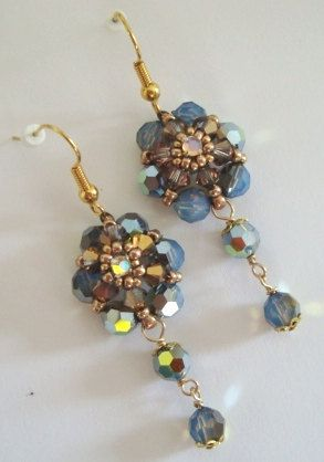 Evening Crystal Flower Dangle Earring Tutorial By Rominadesigns 7 50