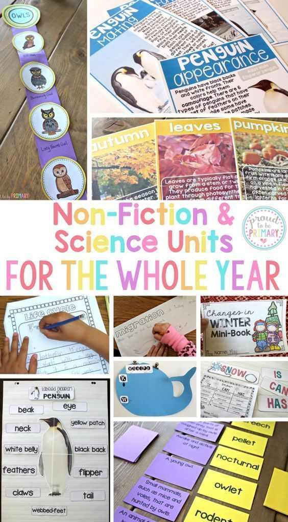 Non-Fiction & Science Resources for the Whole Year has non-fiction ELA & science units for the entire year and covers many animals and life sciences topics for each season. Includes research writing, fact finding, and life cycle activities.