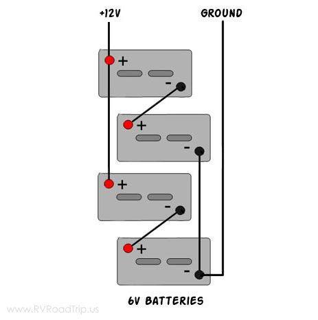 Converting From 12v To 6v Golf Cart Batteries Rv Solar